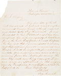 Autographs:Military Figures, Civil War Autograph Letters Signed by Union Generals. . ...