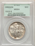 Commemorative Silver, 1926-S 50C Oregon MS64 PCGS. PCGS Population: (1587/1899). NGC Census: (875/1826). CDN: $175 Whsle. Bid for problem-free NG...