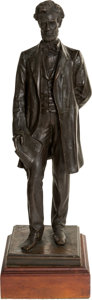 Antiques:Decorative Americana, Abraham Lincoln: George Bissell Standing Bronze.. ...