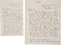 Autographs:Military Figures, General Quincy Adams Gillmore: Two War-Date Autograph Letters Signed [ALSs].. ... (Total: 2 Items)