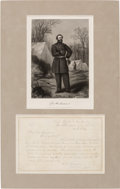 Autographs:Military Figures, George H. Thomas: War-Date Autograph Letter Signed [ALS] to Future President James A. Garfield....