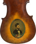 Political:3D & Other Display (pre-1896), Abraham Lincoln: Folk Art Painted Violin c. 1865.. ...