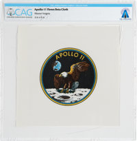 Apollo 11 Flown Beta Cloth Mission Insignia Directly From The Armstrong Family Collection™, CAG Certified