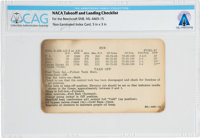 NACA Test Pilot: Take-Off and Landing Checklist for the Beechcraft SNB Kansan, Circa mid-1950s, Directly from The Armstr...