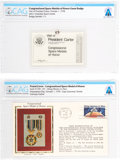 Explorers:Space Exploration, Congressional Space Medal of Honor: Guest Badge and Philatelic Cover From the First Presentation, October 1, 1978, Directly Fr... (Total: 2 )