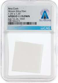 Apollo 11 Flown Beta Cloth Segment Directly From The Armstrong Family Collection™, CAG Certified