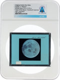 Explorers:Space Exploration, Apollo 11 Original NASA Glass Film Slide, an Image of the Moon Taken During the Trans-Earth Coast, Directly From The Armst...