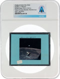 Explorers:Space Exploration, Apollo 11 Original NASA Glass Film Slide, a View of the LM During Rendezvous, Directly From The Armstrong Family Collectio...