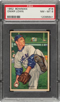 Baseball Cards:Singles (1950-1959), 1952 Bowman Omar Lown #16 PSA NM-MT 8....