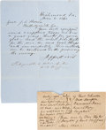 Autographs:Military Figures, Jefferson Davis: A Fine War Dated ALS to Georgia's Governor Asking for Troops.. ...