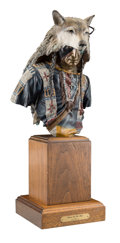 Fine Art - Sculpture, American, Dave McGary (American, 1958-2013). Rain In the Face, 1990. Bronze with polychrome patina. 11-1/4 inches (28.6 cm) high o...