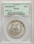 Commemorative Silver, 1937-D 50C Arkansas MS64 PCGS. PCGS Population: (457/615). NGC Census: (299/415). CDN: $100 Whsle. Bid for problem-free NGC...