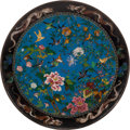 Metalwork, A Monumental Japanese Cloisonné Enamel Charger, Meiji Period, 19th century. 6 x 48 inches (15.2 x 121.9 cm). ...