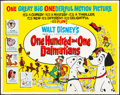"Movie Posters:Animation, 101 Dalmatians (Buena Vista, 1961). Folded, Fine/Very Fine. Half Sheet (22"" X 28""). Animation.. ..."