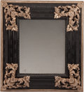 Furniture, A Napoleon III-Style Ebonized and Silver Gilt Wall Mirror. 45 x 41 x 5 inches (114.3 x 104.1 x 12.7 cm). ...