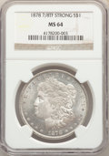 1878 7/8TF $1 Strong MS64 NGC. NGC Census: (1126/103). PCGS Population: (1812/402). CDN: $360 Whsle. Bid for problem-fre...