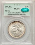 1936 50C Boone MS66 PCGS. CAC. PCGS Population: (397/98). NGC Census: (264/57). CDN: $175 Whsle. Bid for problem-free NG...