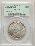 Commemorative Silver, 1937-S 50C Arkansas MS63 PCGS. PCGS Population: (238/808). NGC Census: (83/555). CDN: $95 Whsle. Bid for problem-free NGC/P...