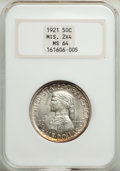 1921 50C Missouri 2x4 MS64 NGC. NGC Census: (844/307). PCGS Population: (820/366). CDN: $825 Whsle. Bid for problem-free...