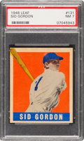 Baseball Cards:Singles (1940-1949), 1948 Leaf Sid Gordon #131 PSA NM 7 - Only Two Higher....
