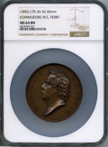U.S. Mint Medals, (1856) MS Commodore M.C. Perry, J-PE-26, MS64 Brown NGC. Bronze, 66 mm....