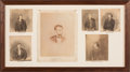 Photography:Studio Portraits, Abraham Lincoln: Framed Display of Lincoln and Conspirator Photographs.. ...