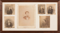 Abraham Lincoln: Framed Display of Lincoln and Conspirator Photographs