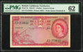 World Currency, British Caribbean Territories Currency Board 1 Dollar 1.3.1954 Pick 7b PMG Uncirculated 62.. ...