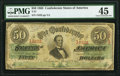 Confederate Notes:1863 Issues, T57 $50 1863 PF-8 Cr. 414 PMG Choice Extremely Fine 45.. ...