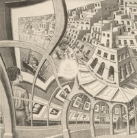 M. C. Escher (1898-1972) Print Gallery, 1956 Lithograph on wove paper, state III 16-1/8 x 16-1/8 inches (41 x 41 cm)
