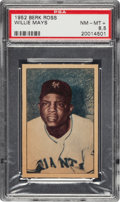 Baseball Cards:Singles (1950-1959), 1952 Berk Ross Willie Mays PSA NM-MT+ 8.5. ...