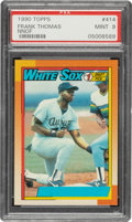 Baseball Cards:Singles (1970-Now), 1990 Topps Frank Thomas (No Name On Front) #414 PSA Mint 9....