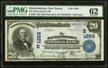 National Bank Notes:New Jersey, Hackettstown, NJ - $20 1902 Plain Back Fr. 650 The Hackettstown National Bank Ch. # (E)1259 PMG Uncirculated 62.. ...