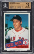 "Baseball Cards:Singles (1970-Now), 1985 Topps Roger Clemens #181 BGS Pristine 10 - With Three ""10"" Subgrades! ..."