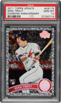 Baseball Cards:Singles (1970-Now), 2011 Topps Update Mike Trout Diamond Anniversary #US175 PSA Gem Mint 10. ...