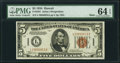 Small Size:World War II Emergency Notes, Fr. 2301 $5 1934 Mule Hawaii Federal Reserve Note. PMG Choice Uncirculated 64 EPQ.. ...