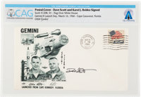 Gemini 8: Launch Cover Signed by Mission Pilot Dave Scott and Karol Bobko Directly From The Armstrong Family Collection™...