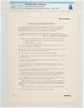 "Explorers:Space Exploration, NASA: Memorandum ""Ground Rules For Lunar Mission Radiation"" Directly From The Armstrong Family Collection™, CAG Certified...."