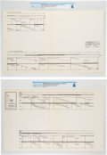 "Explorers:Space Exploration, Apollo 11: NASA Manned Spacecraft Center Large Gantt Charts, January 1968, ""Detailed Timelines for Lunar Surface Explorations""... (Total: 2 Items)"