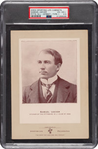1902-11 W600 Sporting Life (Type 1) Sam Leever (Street Clothes0 PSA VG-EX+ 4.5 - Pop One, None Higher!