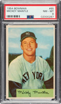Baseball Cards:Singles (1950-1959), 1954 Bowman Mickey Mantle #65 PSA NM-MT 8....