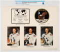 Explorers:Space Exploration, Michael Collins Signed Large NASA Apollo 11 Collage Color Photo Directly From The Armstrong Family Collection™, CAG Certif...