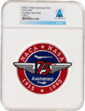 Explorers:Space Exploration, Patches: NACA/ NASA 75th Anniversary 1915-1990 Patch Directly From The Armstrong Family Collection™, CAG Certified....