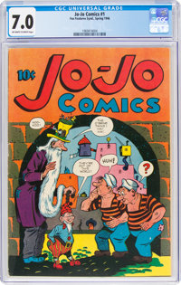 Jo-Jo Comics #1 (Fox Features Syndicate, 1946) CGC FN/VF 7.0 Off-white to white pages