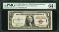 Small Size:World War II Emergency Notes, Fr. 2300 $1 1935A Hawaii Silver Certificate. F-C Block. PMG Choice Uncirculated 64 EPQ.. ...