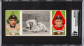 "Baseball Cards:Singles (Pre-1930), 1912 T202 Hassan ""Desperate Slide for Third"" Cobb/O'Leary SGC VG-EX 4. ..."