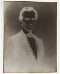 Photography:Studio Portraits, Abraham Lincoln: Dry Plate Negative Of The Cooper Union Pose.. ...