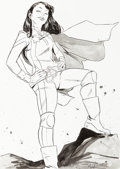 Original Comic Art:Illustrations, Sanford Greene - Female Superhero Illustration Original Art (c. 2010s)....