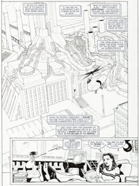 Cully Hamner Superman Metropolis Secret Files #1 Story Page 4 Original Art (DC, 2000)