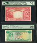 World Currency, Bahamas Bahamas Government 10 Shillings; 1 Dollar ND (1953); 1965 Pick 14b; 18a Two Examples PMG Very Fine 30 Net; Gem Unc... (Total: 2 notes)